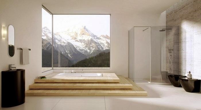 Salle De Bain Moderne Avec Spa Comme Appel