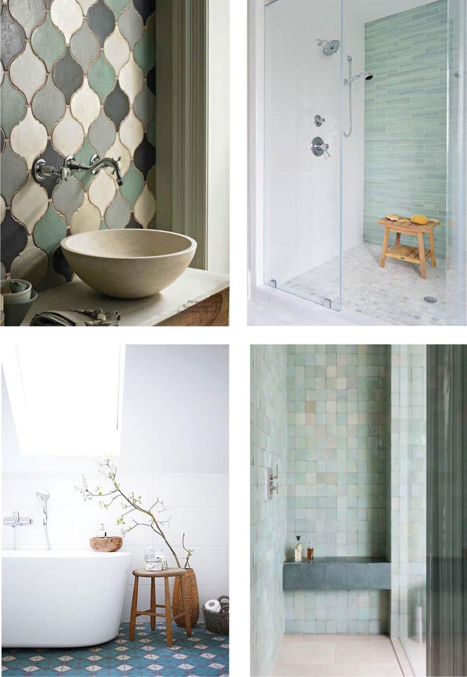 Coastal Style: Coloured Bathroom Tiles