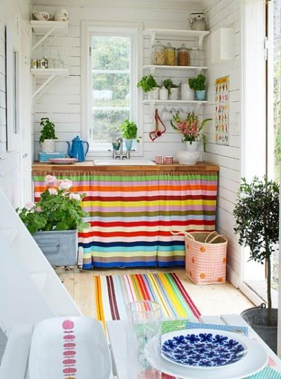 cozinha cortina pia