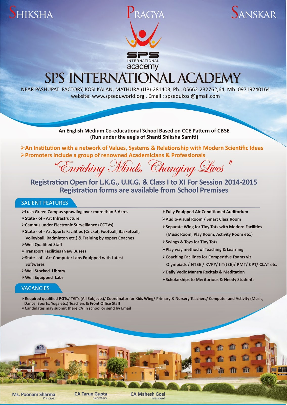 Sps International Academy Ads