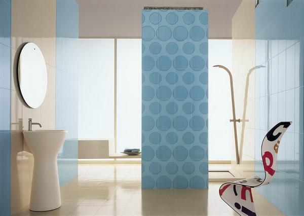 Id es de d coration de la salle de bain en bleu d cor de - Salle de bain blanche et bleu ...