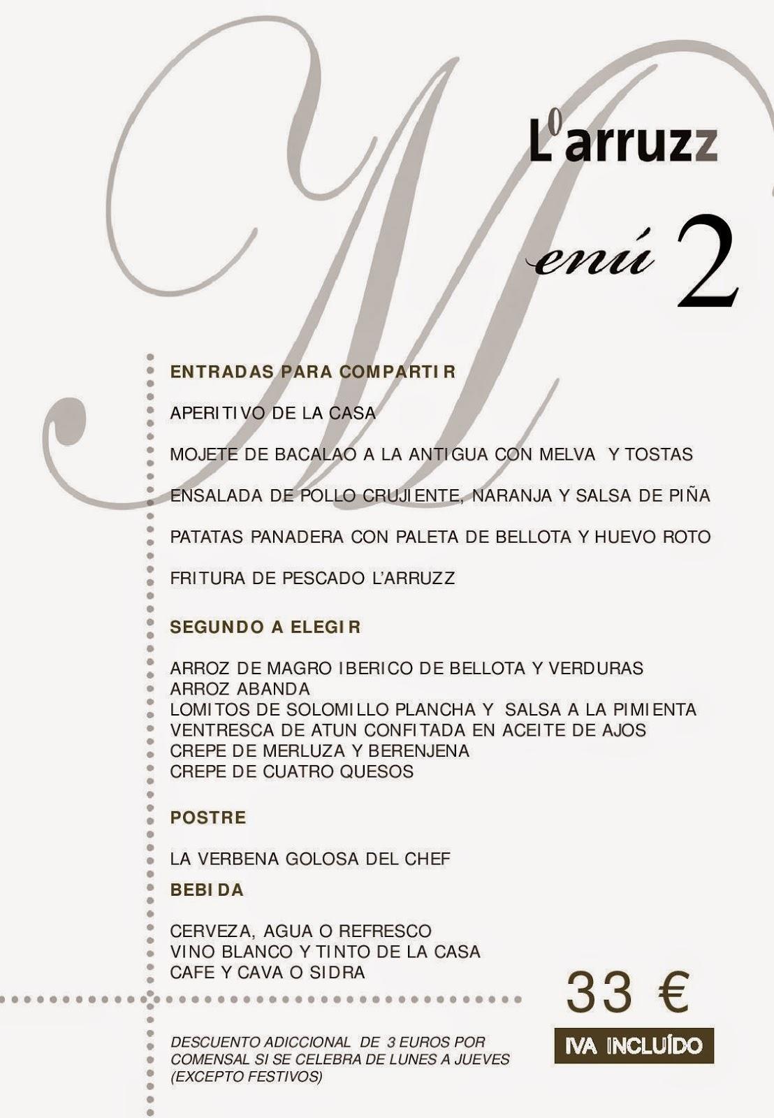 Menú para eventos en Albacete, menú barato para eventos, menús de eventos en Albacete