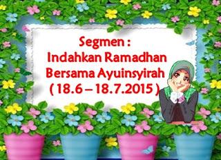 Indahkan Ramadhan bersama Ayuinsyirah