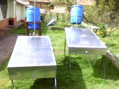calentador de agua solar casero