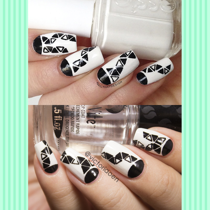 Vic and Her Nails: VicCopycat - Black and White Triangles ...