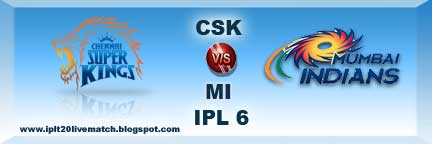 IPL 6 Qualifier 1 CSK vs MI full Scorecards and IPL 6 Records