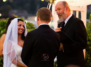 Kent Buttars officiates Veronica & Anthony's wedding ceremony - Kent Buttars, Seattle Wedding Officiant