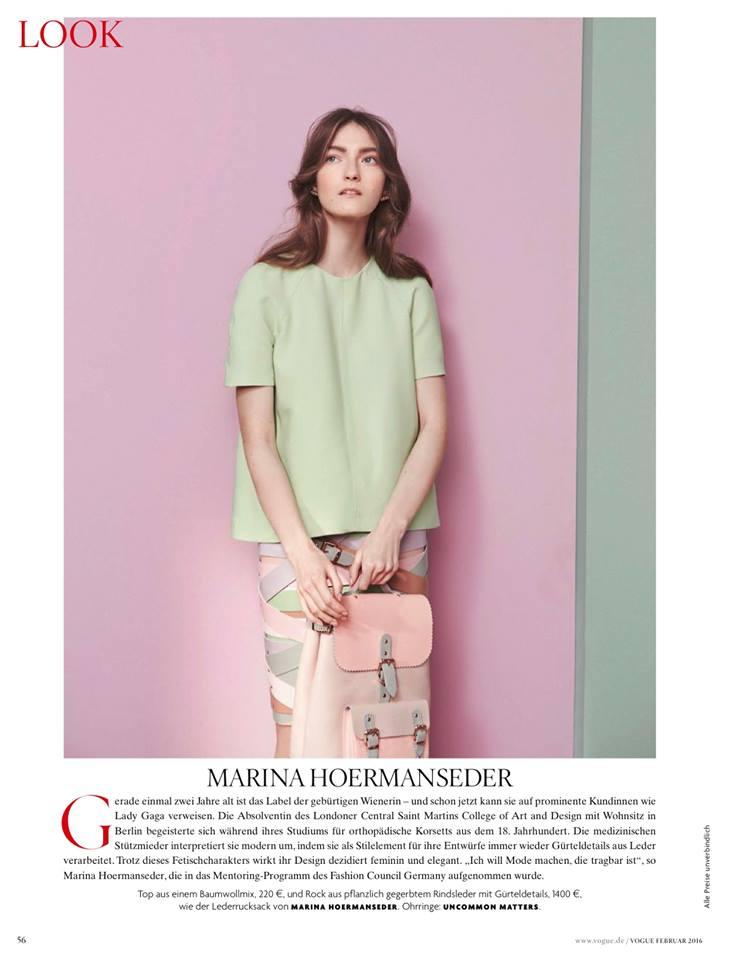 arts cross stitch fashion model kasia jujeczka for vogue germany february 2016. Black Bedroom Furniture Sets. Home Design Ideas