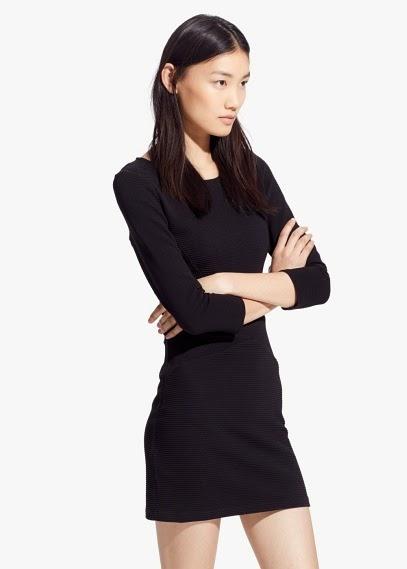 Mango 2015 Elbise Modelleri  siyah dar kesim, kısa elbise modeli, yazlık ve günlük model