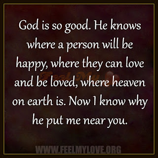 God is so good. He knows where a person will be happy