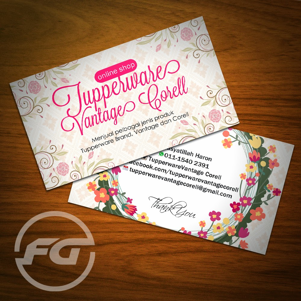 Fizgraphic design printing business card 93 for Tupperware business card templates
