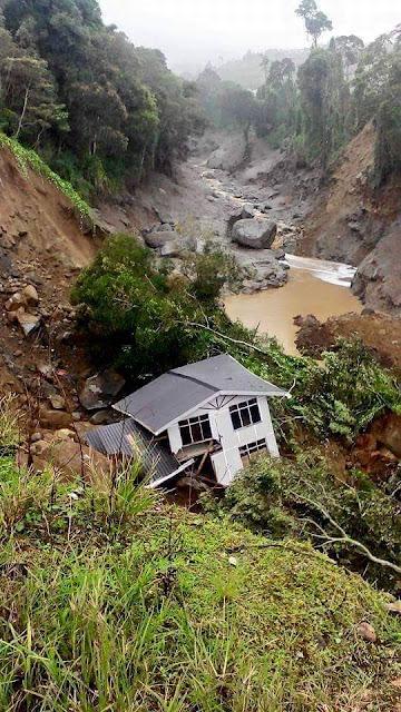 gambar kesan banjir lumpur kundasang