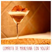 Foto: Compota manzana con yogurt