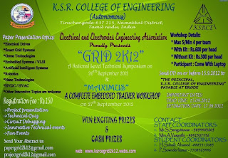 KSRCE Grid 2k12 National Level Technical Symposium
