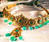 Tanishq Polki Emerald Necklace - Jewellery Designs