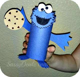 cookie monster toilet paper roll craft