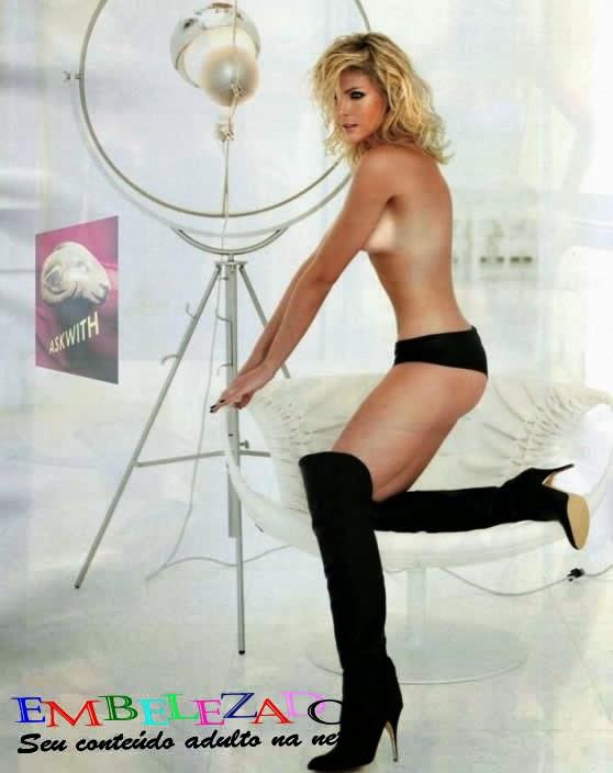 Apresentadora, ex-Miss Brasil Ana Hickmann nua, pelada.
