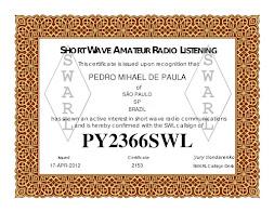 Certificado de Radioescuta