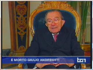 6 mayo 2013 - La RAI anuncia la muerte de Giulio Andreotti