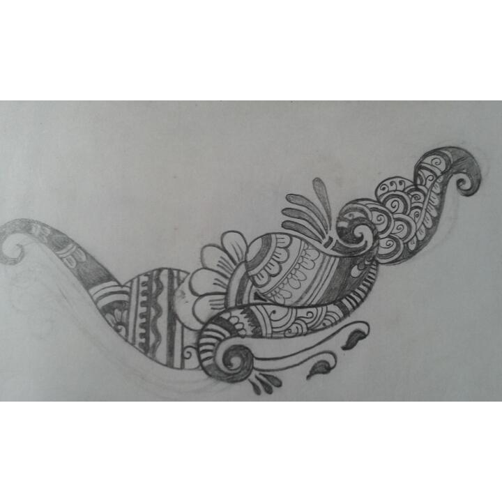 Mehndi Tattoo Bajuband : Pencil sketch of bajuband mehndi designs crafts and cooking