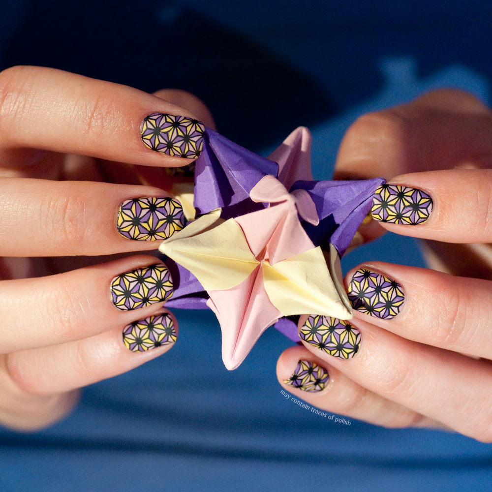 Origami star nail art - May contain traces of polish