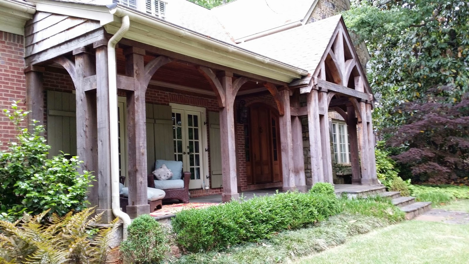 TARA DILLARD: Front Porch: Foundation Plantings or Steps? on house entrance ideas, front home views, front door ideas, front cottage ideas, old house ideas, dining room ideas,