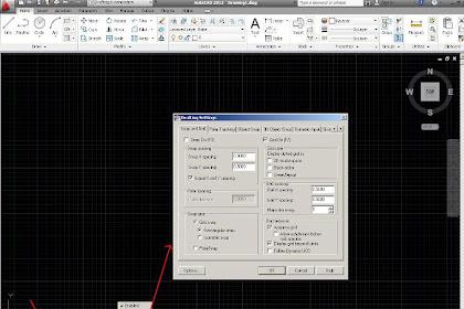 Menggunakan  GRID dan SNAP AutoCAD 2012