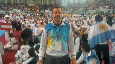 Diego Kravetz en el mundial de Taekwondo 2013