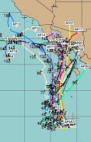 Tropischer Sturm PAUL zieht wahrscheinlich nach Baja California, Mexiko, Paul, Baja California, Mexiko, aktuell, Pazifische Hurrikansaison, Hurrikansaison 2012, Oktober, 2012, Vorhersage Forecast Prognose,