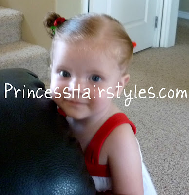 christmas hairstyle for baby