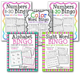 Great BINGO games for Kinders at an affordable price. $