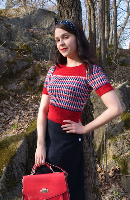 40s knit sweater made of alpaca yarn by cherise