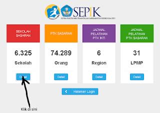 Cara Cek Daftar Sekolah Sasaran Implementasi Kurikulum 2013 tahun pembelajaran 2013/2014 2