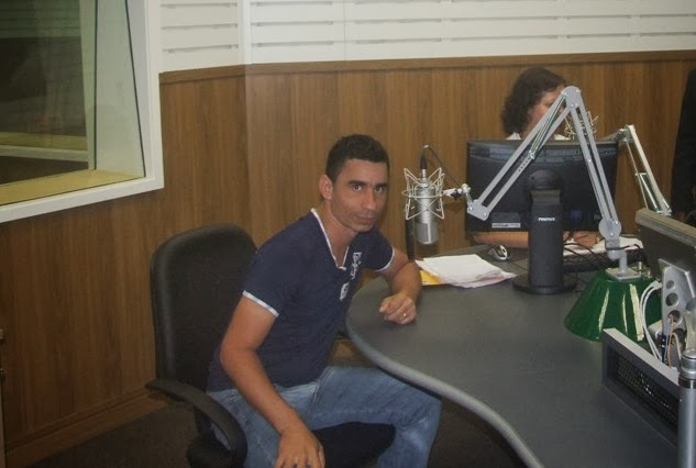No estúdio da Rádio Nacional da Amazônia