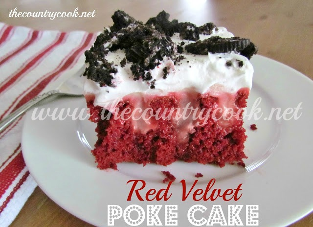 Red Velvet Poke Cake With Cheesecake Pudding