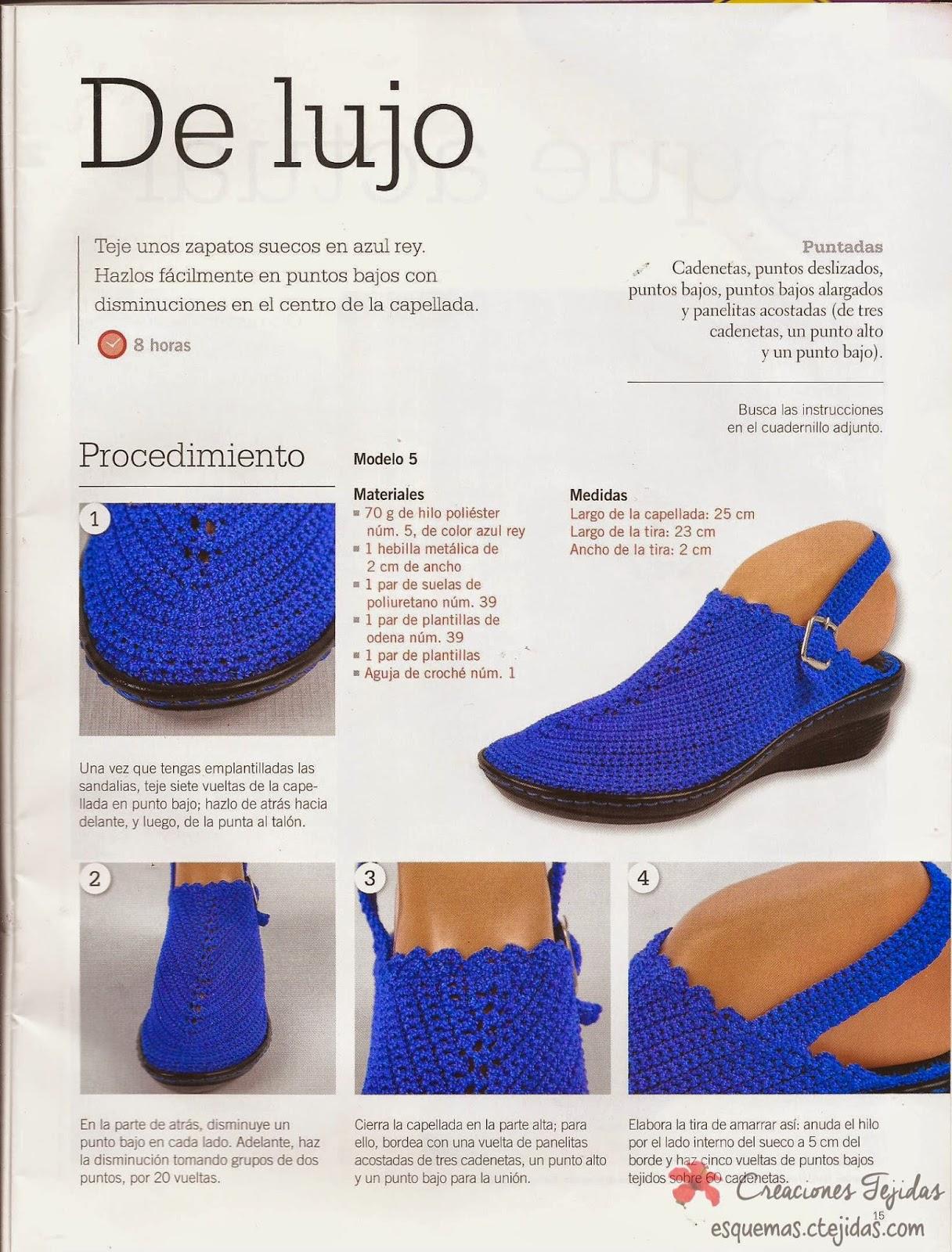 Zapatos a Crochet | Suecos