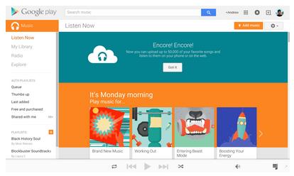 Google Play Music : Simpan Lagumu Dan Mainkan Dimanapun Sesukamu.