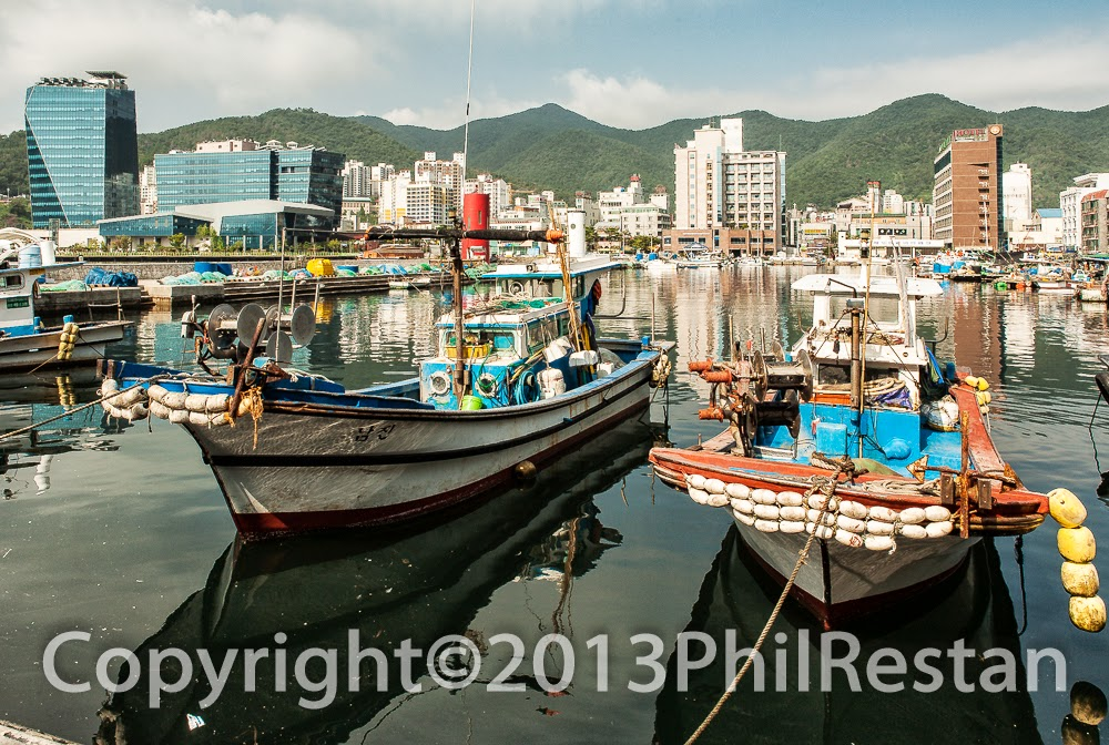 Image of Fishing boats in Okpo harbour