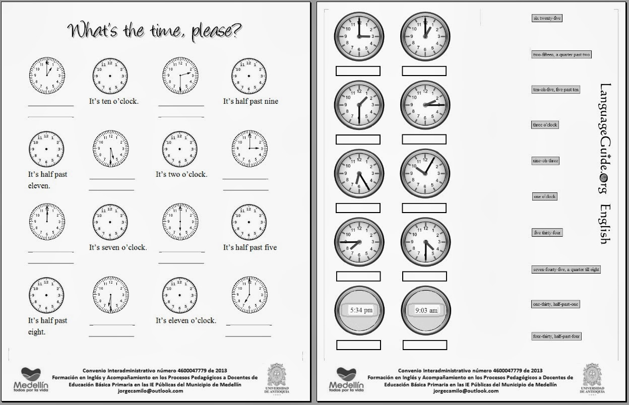 Worksheets La Hora Worksheet english class 2013 worksheet activities