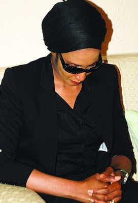 Ojukwu's Widow Bianca Returns To Nigeria. 1