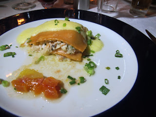 Dane's delicious seafood lasagna at Paladar La Guarida