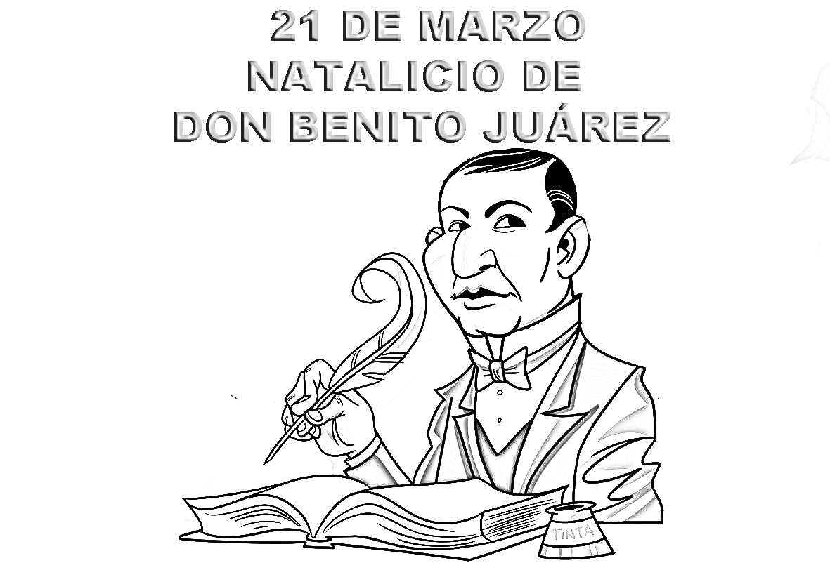 21 de Marzo Benito Juarez para colorear