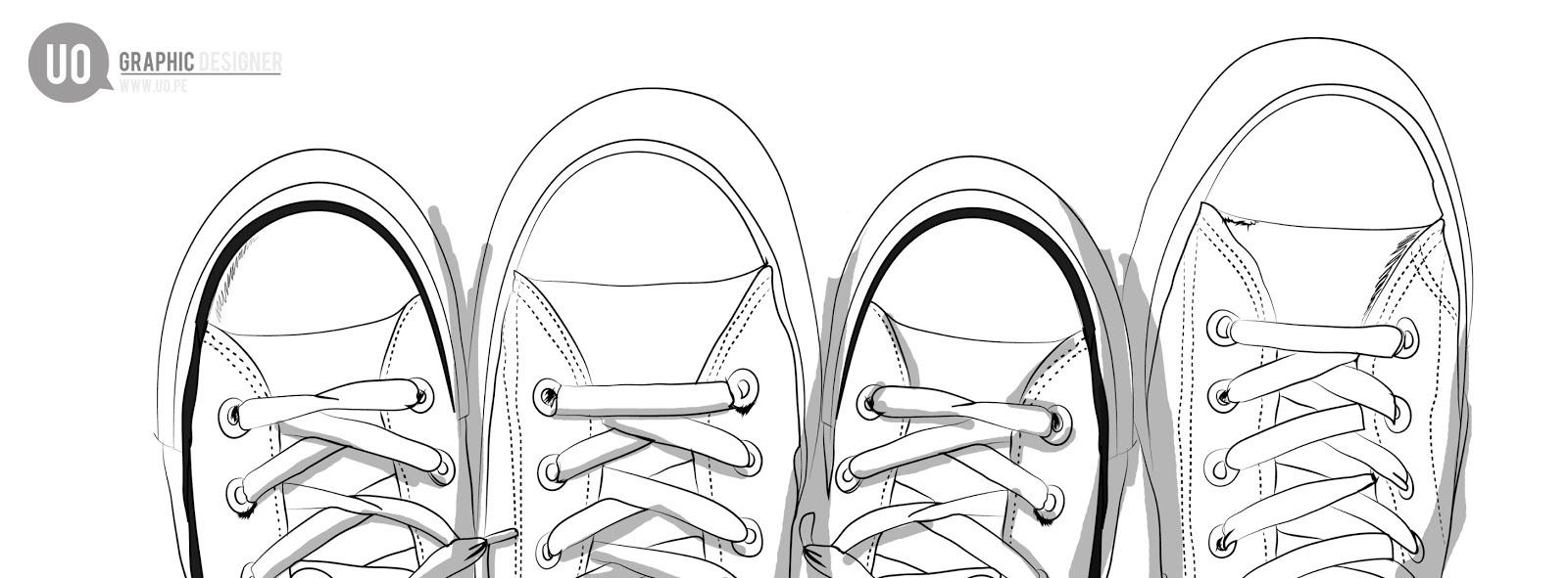 Único Zapatos Converse Para Colorear Composición - Dibujos Para ...