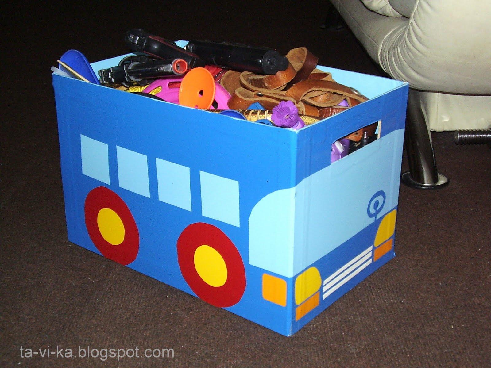 Как сделать коробка для игрушек своими руками