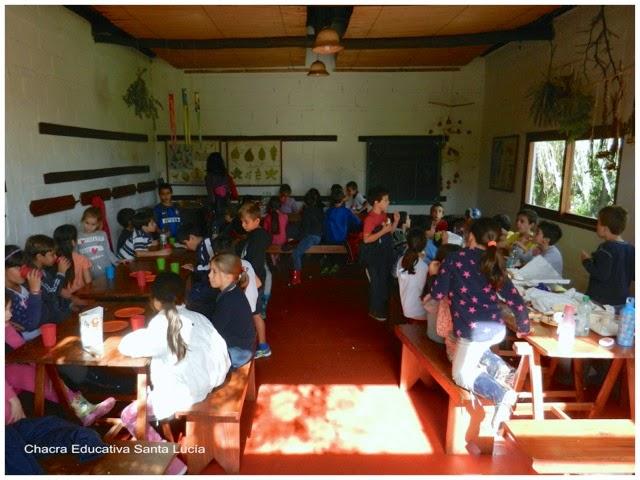 Que luego habrá tiempo para una rica merienda - Chacra Educativa Santa Lucía