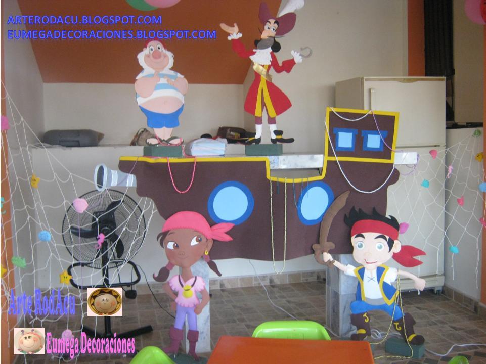 Decoracion de fiesta de jake and the never land pirates >>