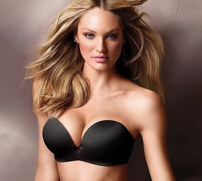 Candice Swanepoel Busty Cleavage Topless In Hot Victoria's Secret Lingerie