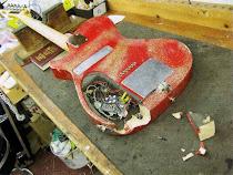 Manson Guitar Smashing