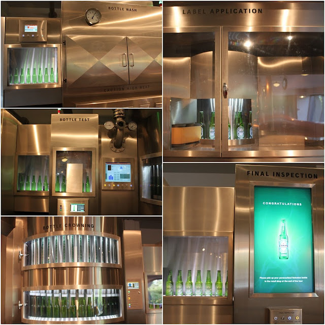 An Interactive Experience to personalize your bottle at Heineken Experience Museum in Amsterdam, Netherlands