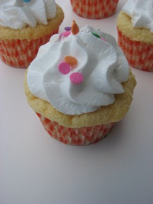 Heidi Bakes Orange Chiffon Cupcakes With White Cloud Frosting
